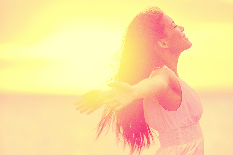 Happiness - Free happy woman enjoying sunset.jpg